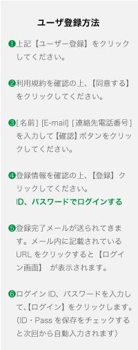 ユーザ登録方法